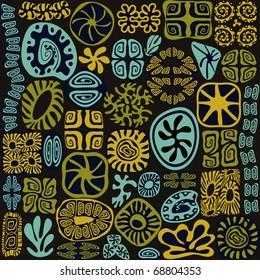 Tribal design elements see life ornate