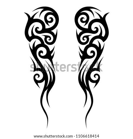 Tribal Design Pattern Elements Tattoo Men Stock Vector (Royalty Free ...