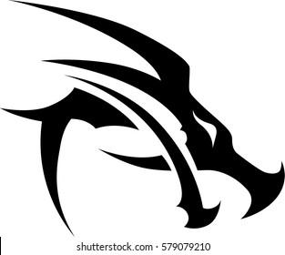 tribal dragon tattoo design.