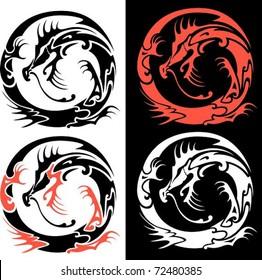 Royalty Free Tribal Dragon Tattoo Images Stock Photos Vectors