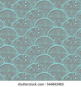 Tribal drops pattern. Vector illustration.