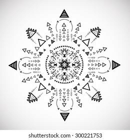 Tribal Ethnic Aztec Geometric Element. Vector Illustration.