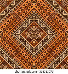 Tribal ethnic textile pattern african style