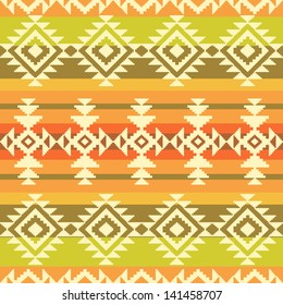 Tribal geometric striped pattern