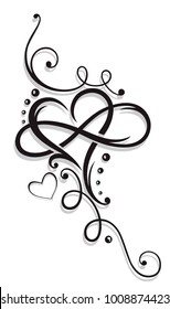 Tribal Heart with large infinity loop.