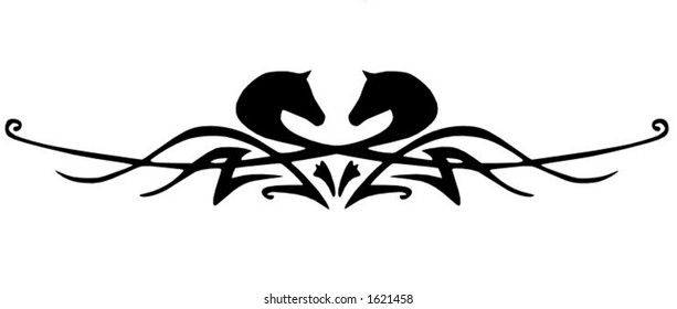 A tribal horse design element, would make a great tattoo