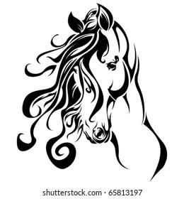 Tribal Horse portrait