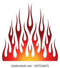 Tribal hotrod muscle car flame graphic for car hoods and roofs. Ideal for decals, stickers, mask and tattoos too.
