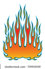 Tribal hotrod muscle car flame kit for car hoods. Can be used as decals or even tattoos too.