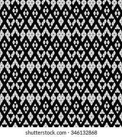 Tribal monochrome lace. Trendy modern pattern for your design. Vector illustration.