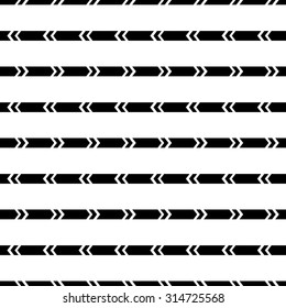 Tribal ornament. Geometric pattern. Ethnic pattern. Seamless pattern in black and white. Vector illustration