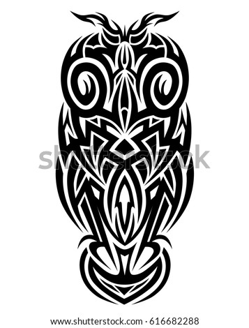 Tribal Owl Tattoo Art Design Vector Stock Vector Royalty Free