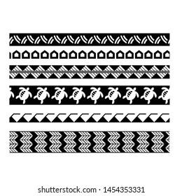 tribal pattern polynesian tattoo, aboriginal samoan band, maori seamless art bracelets ornament, polynesian line tattoo pattern, maori black and white texture border, ethnic ornament tribal band