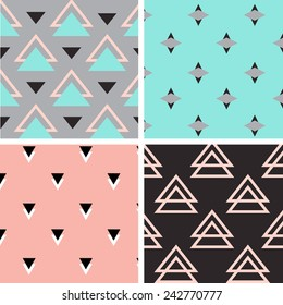 Tribal pattern set. Four different patterns