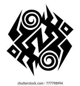 d6d4207dd tribal pattern tattoo vector art design, isolated illustration abstract  pattern on white background, tattoos