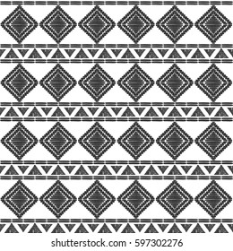 Tribal pattern vector seamless. African or native american aztec print. Basket background for ethnic fabric, wallpaper, wrapping paper and boho card template.