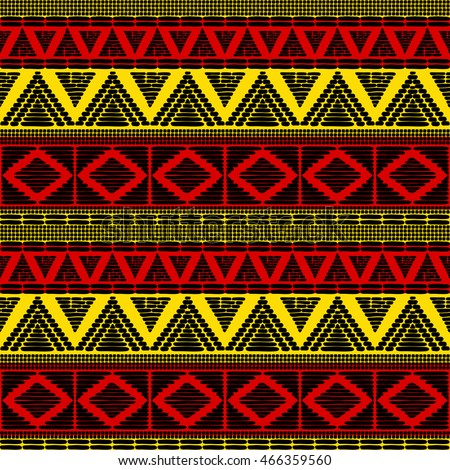 Tribal Pattern Vector Seamless African Background Image Vectorielle