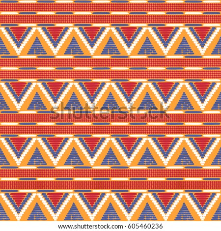 Tribal Pattern Vector Seamless Ethics African Stock Vector Royalty Impressive African Tribal Patterns