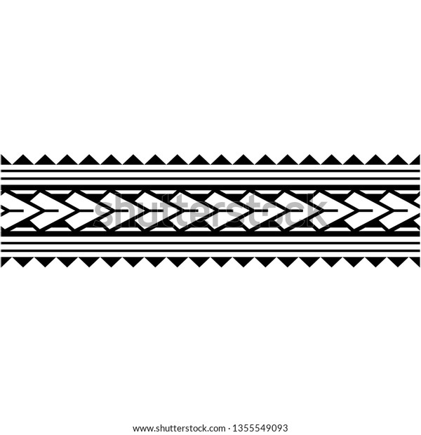 Tribal Polynesian Wrist Tattoo Pattern Vector