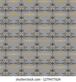 Tribal repetitive pattern - Berber native signs background,north african art