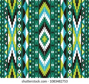 Tribal seamless colorful geometric pattern. Ethnic vector texture.Traditional ornament.