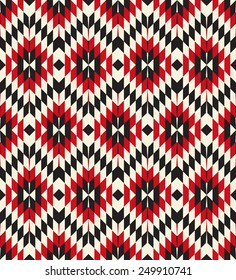 Tribal seamless colorful geometric pattern.