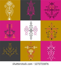 Tribal seamless pattern - Berber native signs ,ethnic background