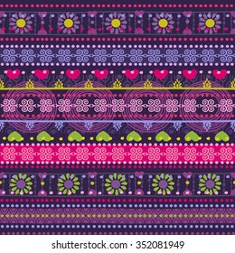 Tribal seamless pattern. It can be used for cloth, jackets, bags, notebooks, cards, envelopes, pads, blankets, furniture, packing
