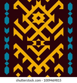 Tribal seamless pattern. Geometric design in ethnic style.