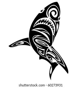 facc97bd5 Shark Tattoo Tribal Vector Images, Stock Photos & Vectors | Shutterstock