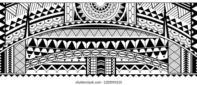 Tribal sleeve design. Maori ethnic ornaments