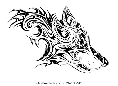 b52c70a43 Wolf Tribal Images, Stock Photos & Vectors | Shutterstock