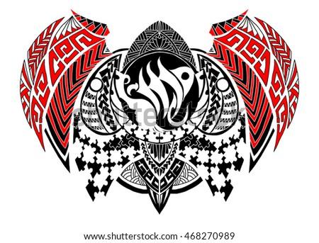 Tribal Style Zodiac Sign Virgo Tattoo Stock Vector Royalty Free