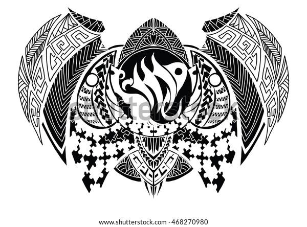 1a3144cc48f6e Tribal Style Zodiac Sign Virgo Tattoo Stock Vector (Royalty Free ...