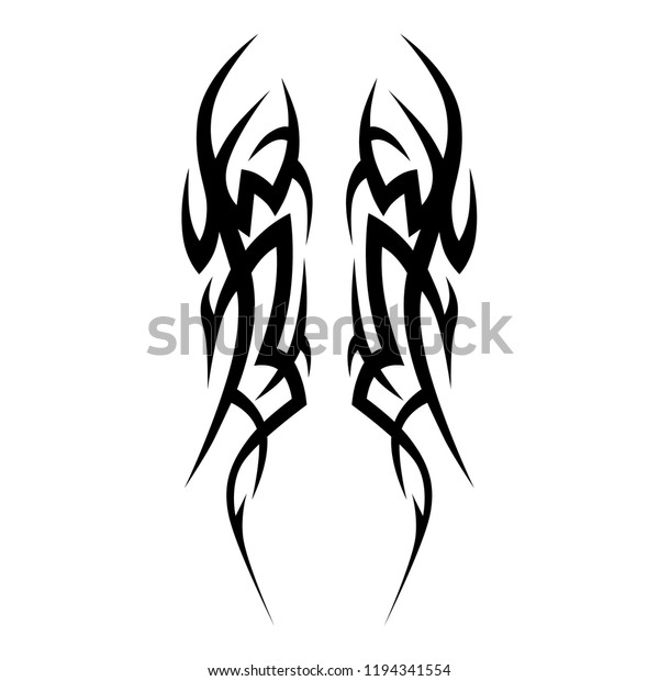 b5722d718 tribal symmetric pattern elements for tattoo men right and left hand and  shoulders, art deco