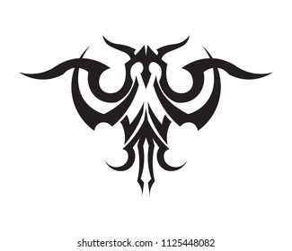 tribal tatto collection set  flame tatoo totem Vector Illustration design