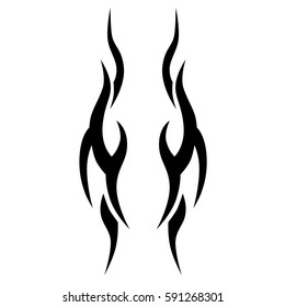 tribal tattoo abstract sleeve, black arm shoulder tattoo pattern vector, sketch art design isolated on white background