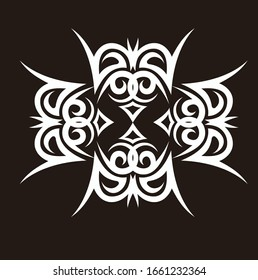 tribal tattoo arm design vector pattern, celtic sleeve background, shoulder art elements celtic swirls vector designs symmetrical sketch