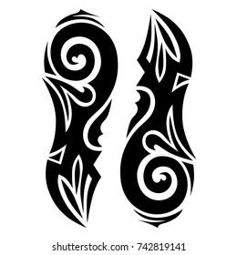 tribal tattoo art design pattern sleeve -tattoos ideas vector tribal design illustration