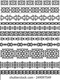 Tribal Tattoo Border Seamless Design