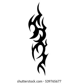 tribal tattoo design, sleeve vector flame maori