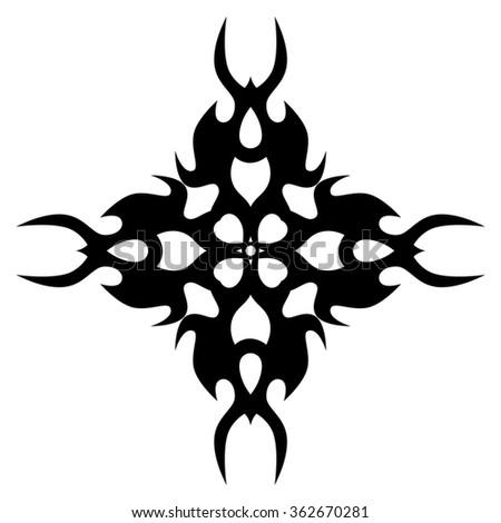 Tribal Tattoo Design Vector Sketch Cross Stock Vector Royalty Free