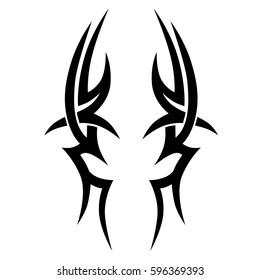 tribal tattoo pattern art element  celtic swirls vector designs sketch.