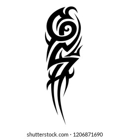 tribal tattoo sleeve design, abstract black pattern vector, tribal tattoo vector templates art  design, abstract  element on white background