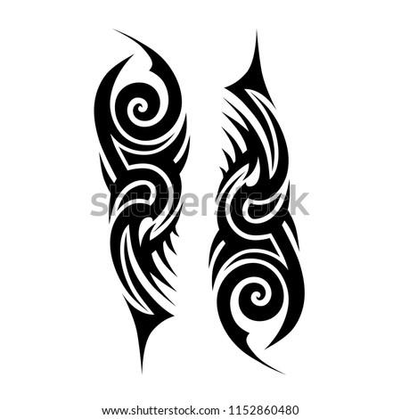Tribal Tattoo Sleeve Pattern Vector Tattoos Stock Vector Royalty