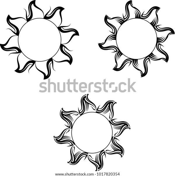 a2cc1ac02 Tribal Tattoo Sun Design Vector Art Stock Vector (Royalty Free ...