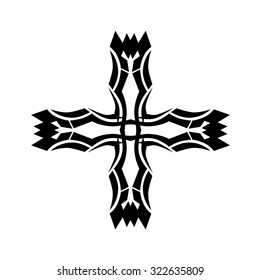 aeee21c713eeb Tribal tattoo vector design sketch. Art cross pattern. Simple logo.  Designer isolated abstract