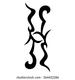 Tribal tattoo vector design sketch. Sleeve art abstract pattern arm. Simple logo. Designer isolated abstract element for arm, leg, shoulder men and women on white background.