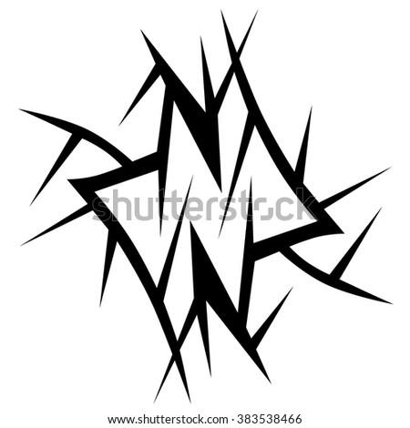 Tribal Tattoo Vector Design Sketch Single Stock Vector Royalty Free