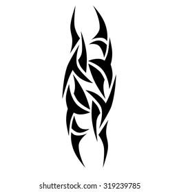 tribal tattoo vector design template sleeve stock vector royalty
